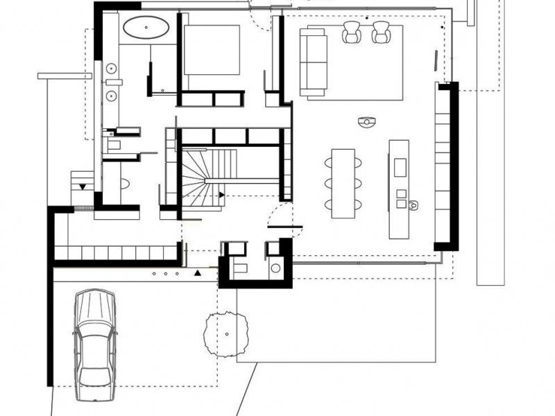 Simple Home Plan With Minimalist Design