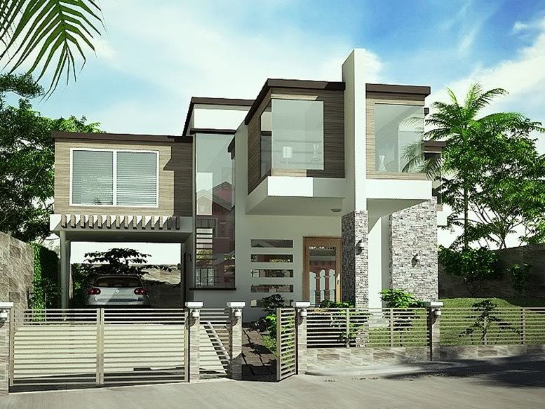 Simple Modern House With White Paint ...