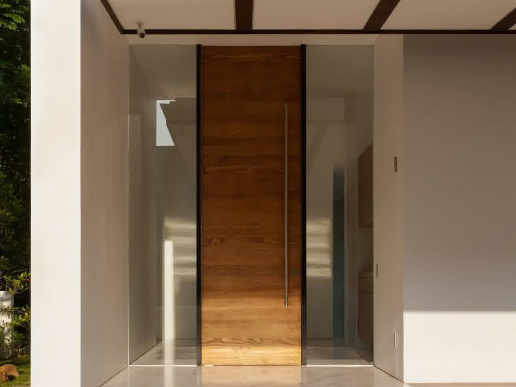Small Wooden Door For Minimalist Home