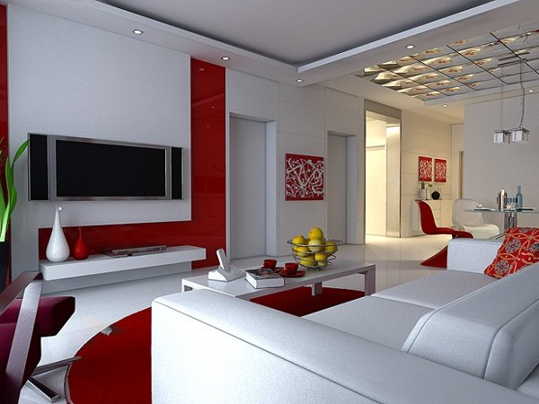 top white red living room paint - Paint Color Selection For Living Room