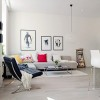 White Apartment Interior Furniture Selection