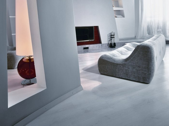 White Flooring For Elegant Home Interior