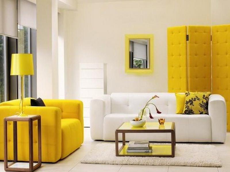 White Yellow Home Interior Color