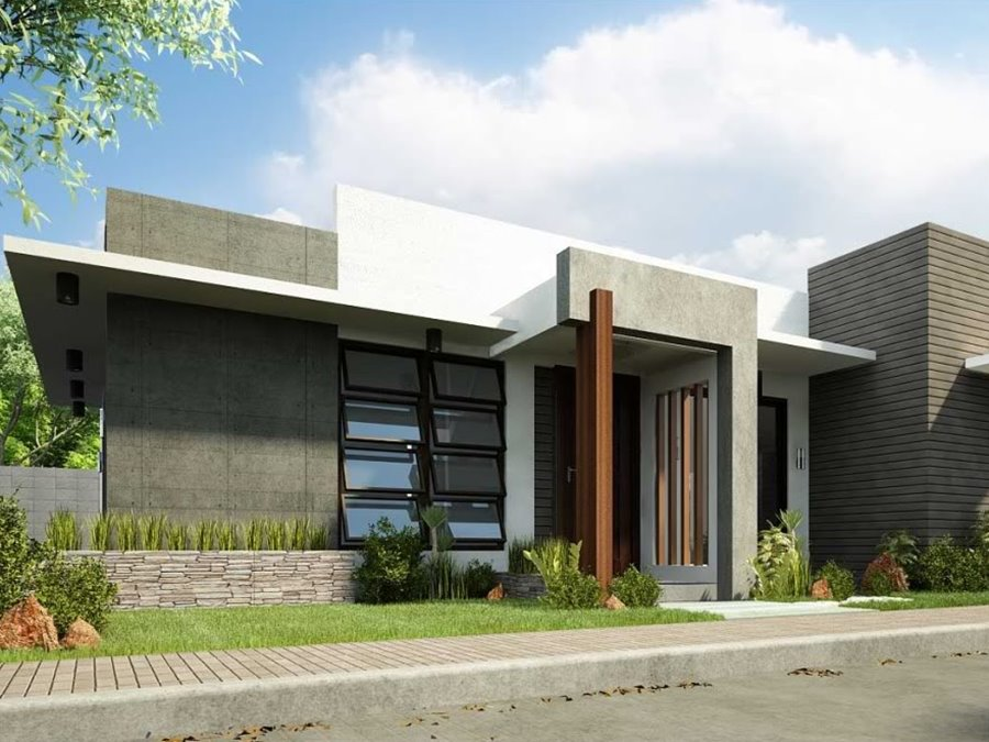 1 storey simple modern home design 4 home ideas for Modern triplex house designs