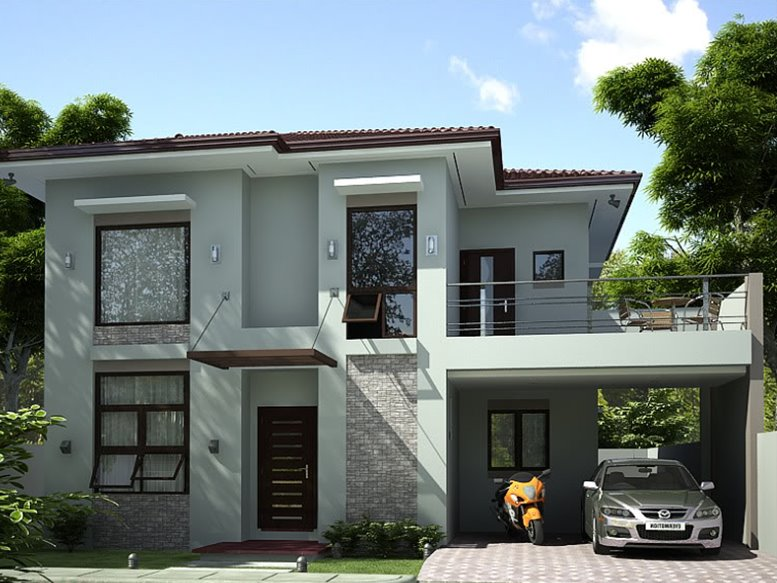 2 storey simple modern house 4 home ideas for Simple modern two story house design