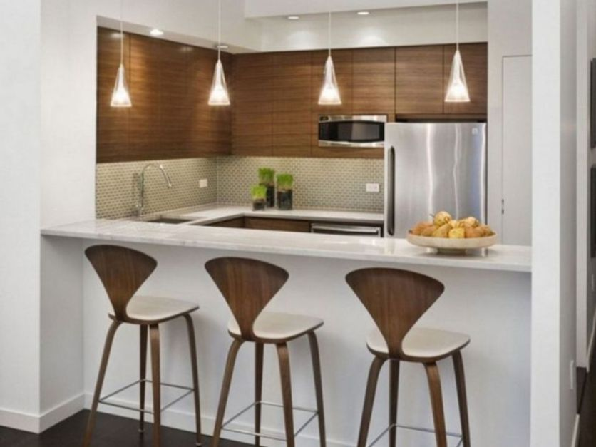 Apartment Kitchen Design. Awesome Bar Idea For Kitchen Design Inspiration  Apartment