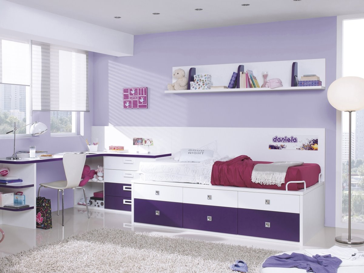Beautiful Bedroom Desk Color Combination