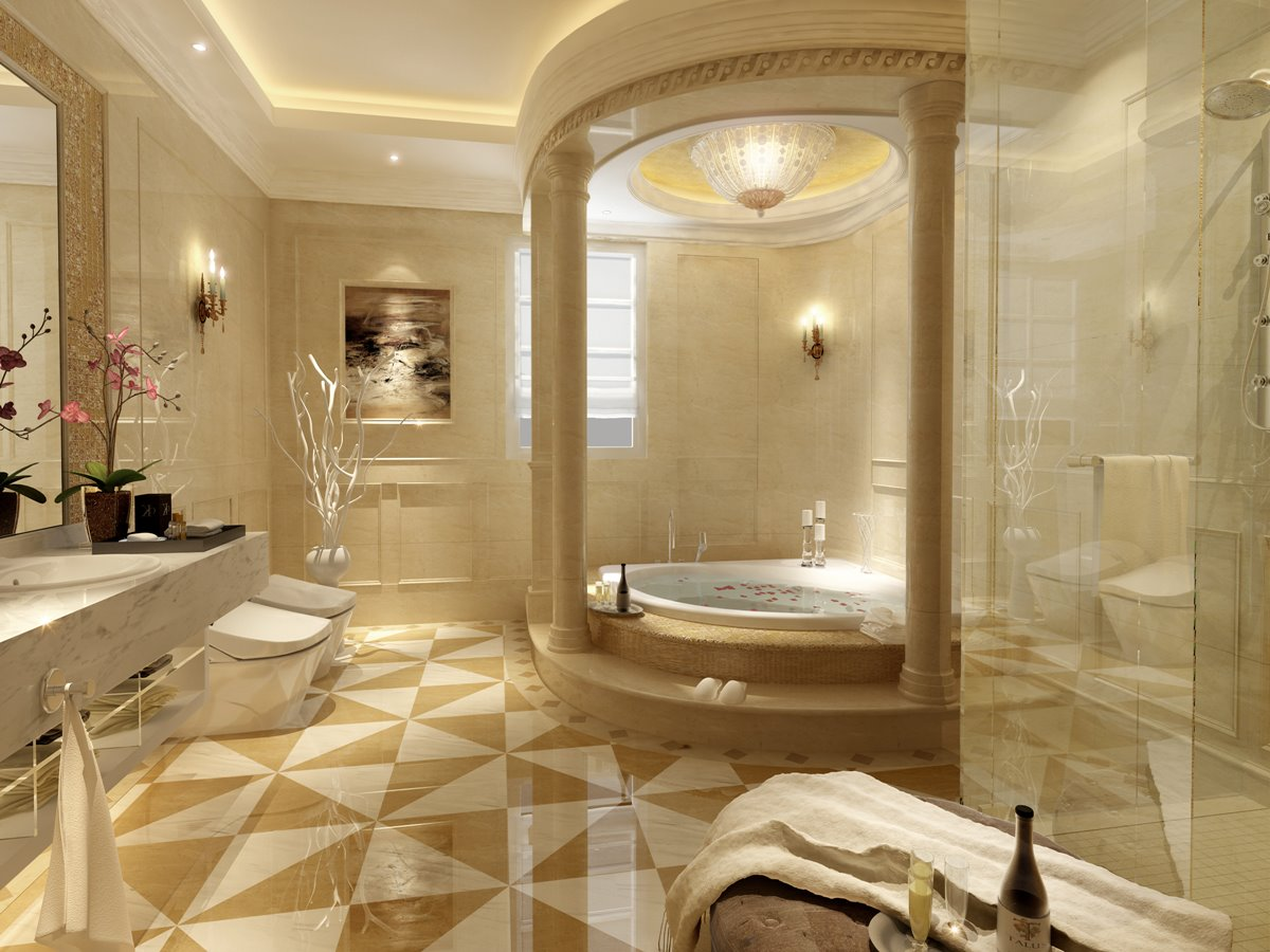 Beautiful Ceramic Tile For Luxury Bathroom
