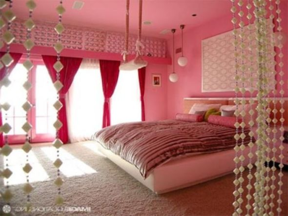 Beautiful Curtains Design Color For Pink Bedroom