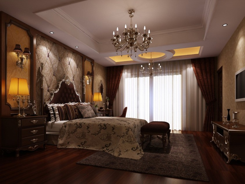 Beautiful Curtains Design For Luxury Master Bedroom
