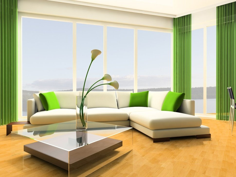 Beautiful Green White Home Paint Color