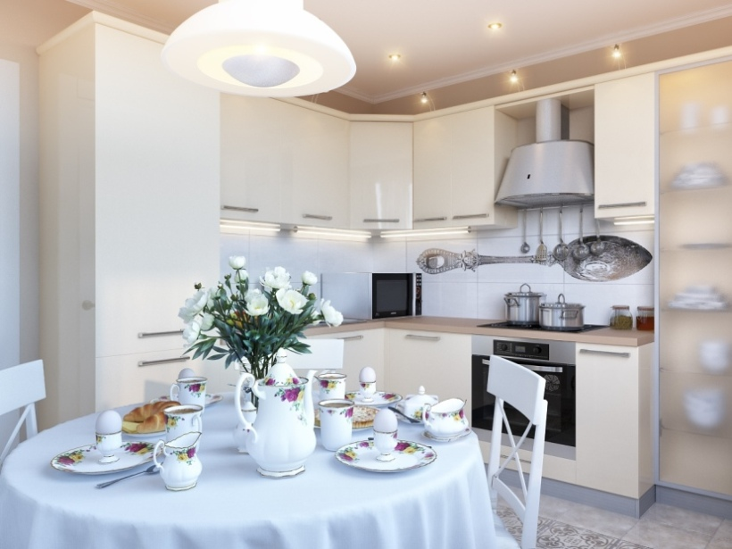 Beautiful Modern Kitchen With White Color Scheme
