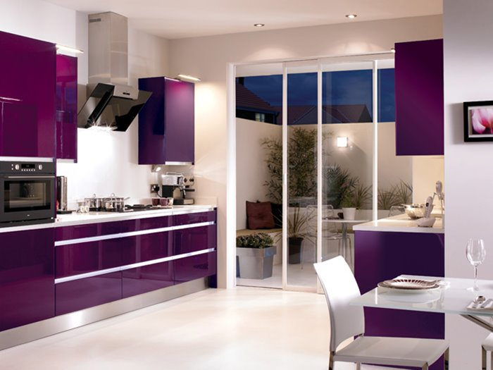 Beautiful Purple Kitchen Color Combination