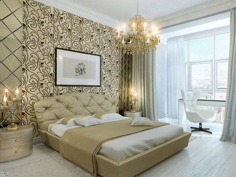 Beautiful Master Bedroom Ideas Part - 38: Beautiful Wallpaper For Luxury Master Bedroom