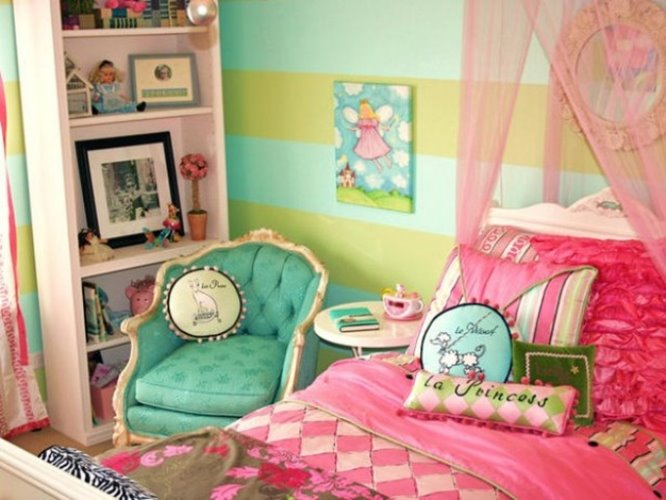 paint colors selection for girly bedroom ideas