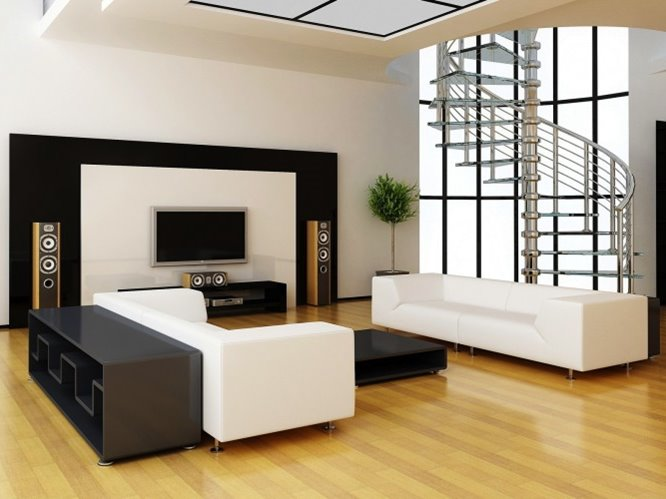 Black And White Living Room Sofa