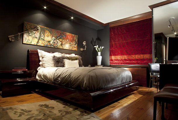 Black Color To Build Luxury Bedroom