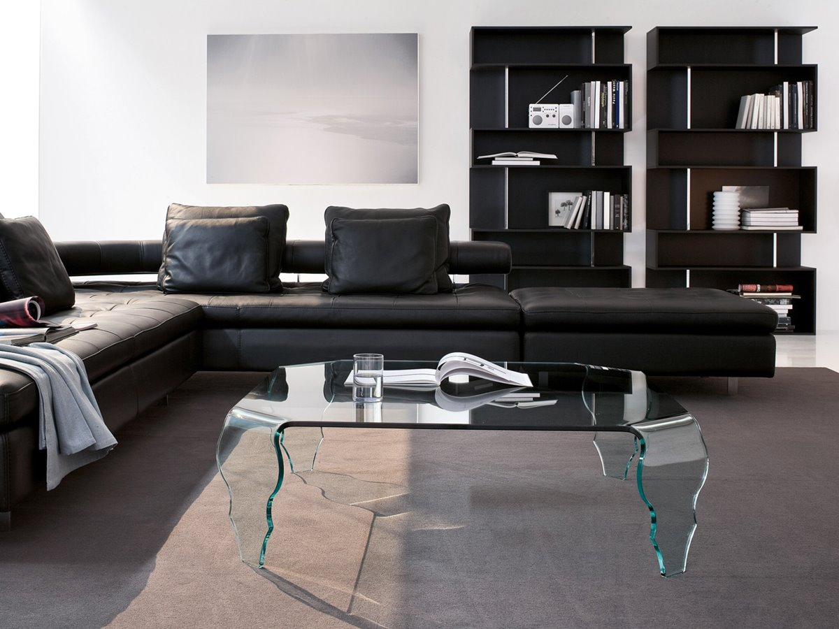 Black Minimalist Living Room Sofa
