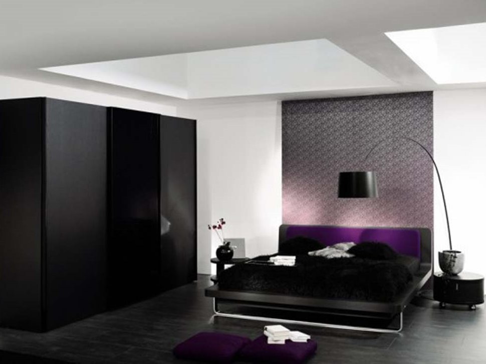 Black Wardrobe Design For White Bedroom