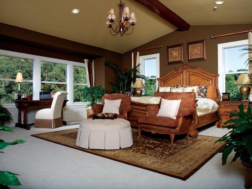 Brown Color For Luxury Master Bedroom