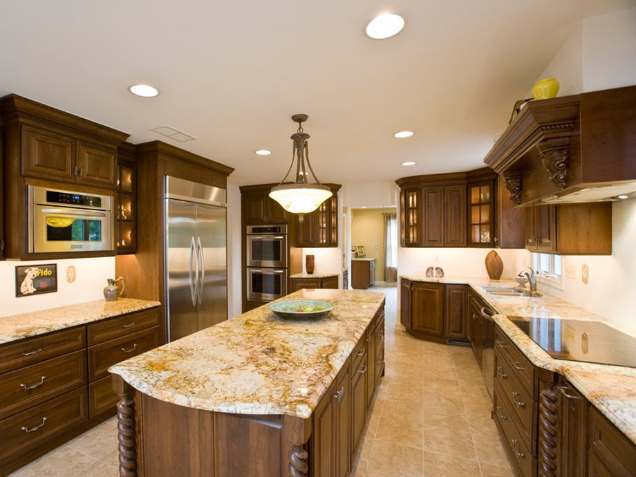 Brown Color Idea For Luxury Kitchen