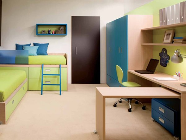 White Desk Color For Small Kids Bedroom - 4 Home Ideas