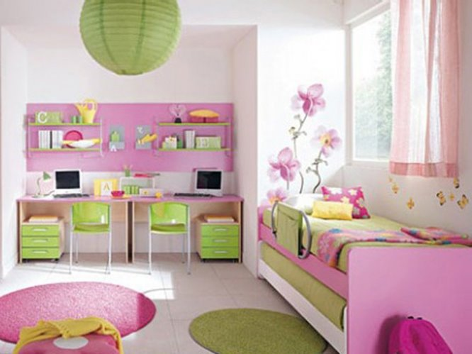 Colorful girly bedroom with cute decor 4 home ideas for Girly room decor ideas