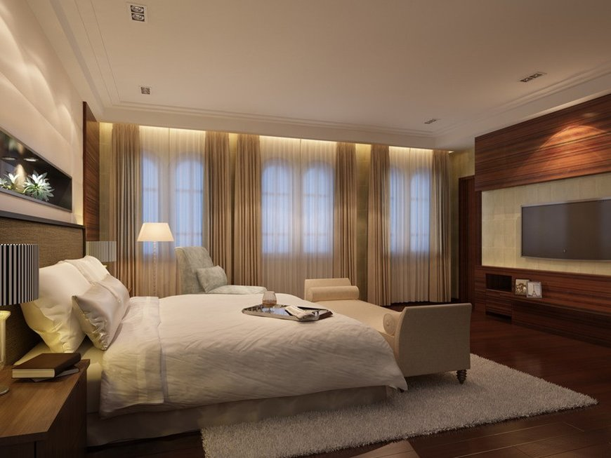 Curtain Idea For Luxury Master Bedroom Window