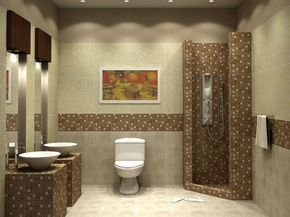 Decorative Bathroom Ceramic Design Idea