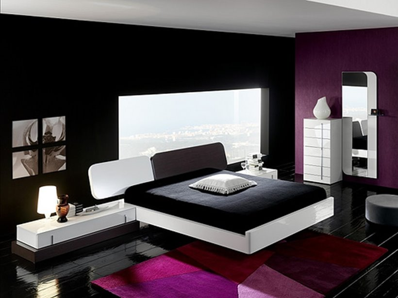 Superb Elegant Black Bedroom Color For Men