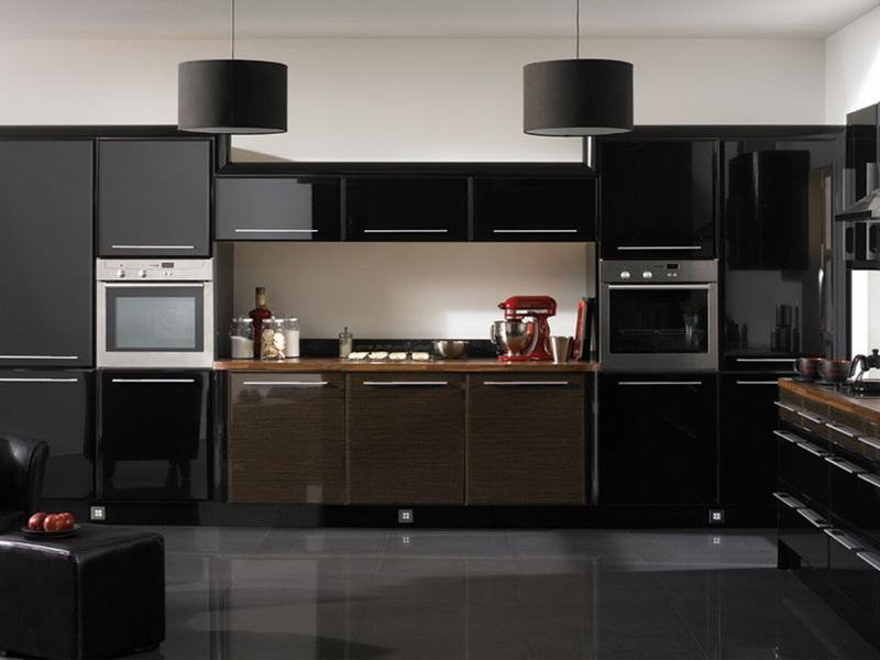 Elegant Black White Kitchen Colors