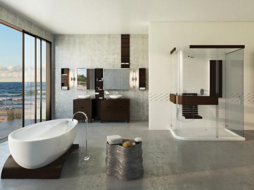 Elegant Modern Minimalist Bathroom Interior Idea