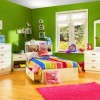 Fresh Green Wall Paint For Kids Bedroom