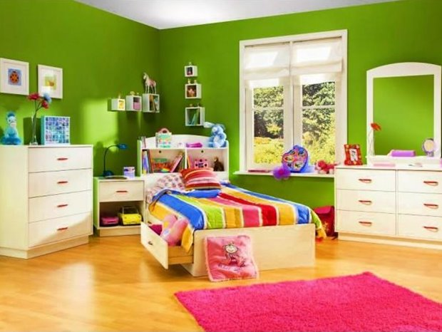 Fresh Green Wall Paint For Kids Bedroom The Advantages Of These Two Colors