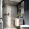 Gray Contemporary Modern Bathroom Design