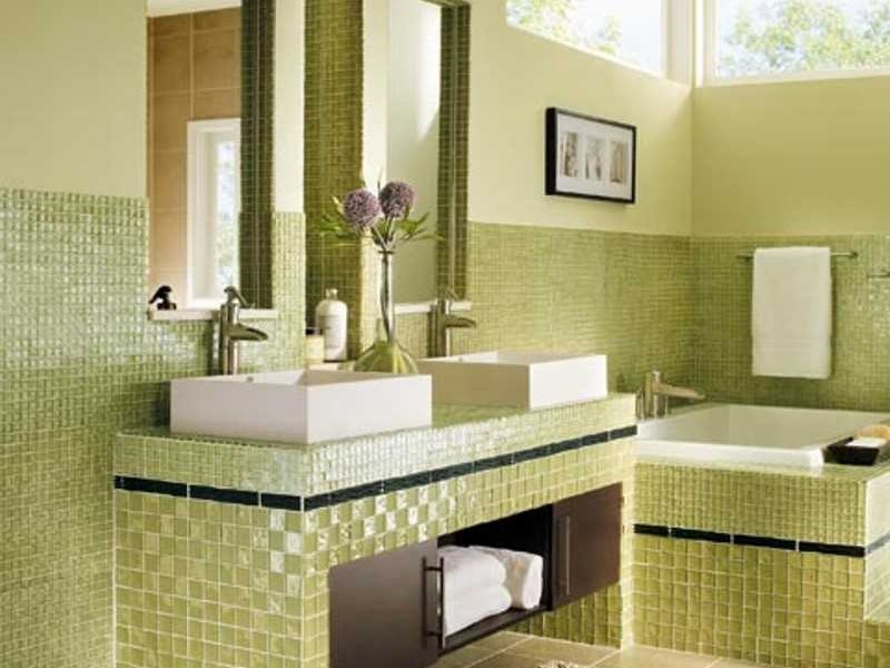 Green Bathroom Ceramic Color Design