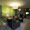 Green Paint To Create Luxury Living Room