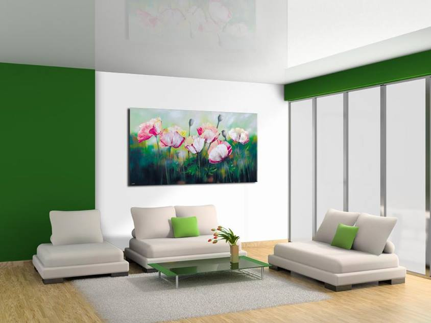 Green White Color For Luxury Living Room