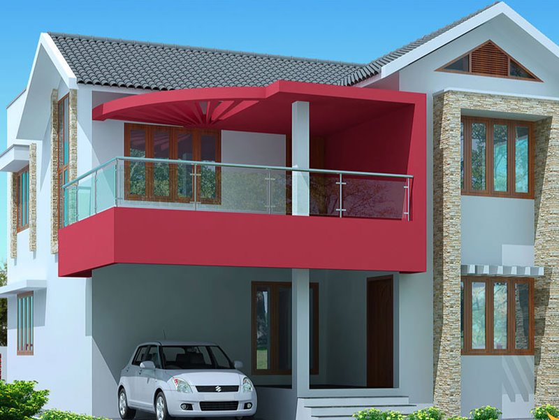 How To Paint Simple Modern Home. However Simple House Model ...