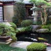 Japanese Garden With Small Pond