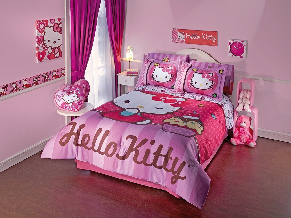 Bedrooms for girls hello kitty - Latest Hello Kitty Bedroom Decor 2015