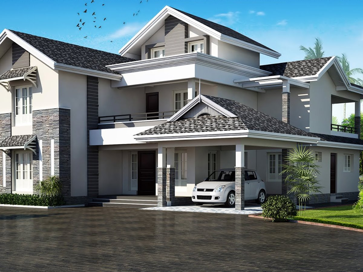 Latest roof design for modern house 4 home ideas for Latest modern house plans