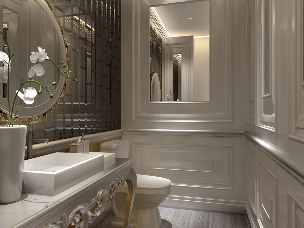 Luxury Bathroom Ceramic Pattern Design