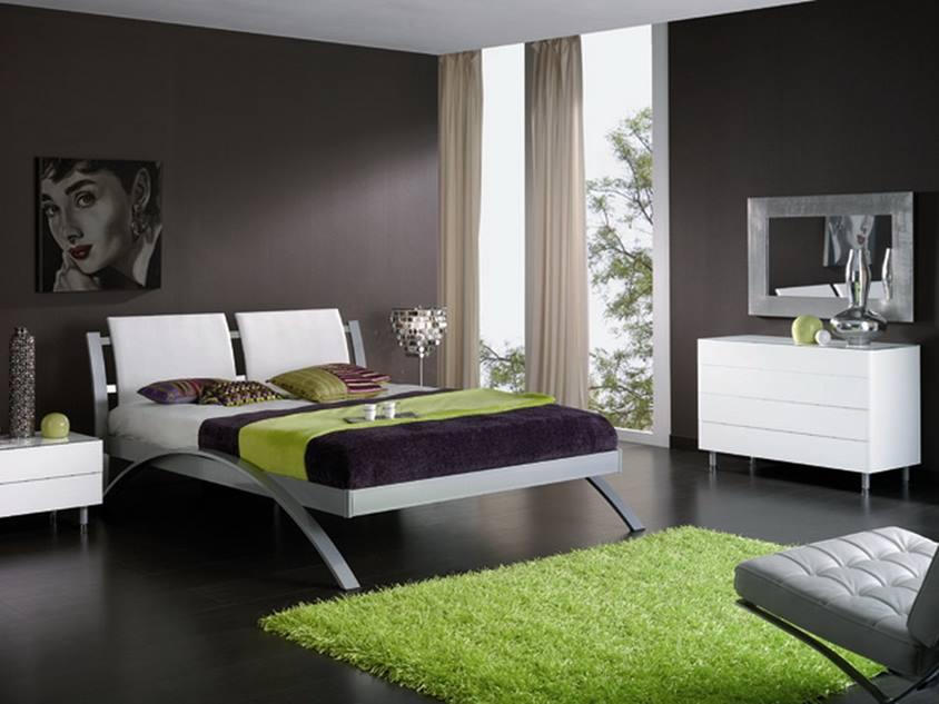 Luxury Black Bedroom Wall Paint Color