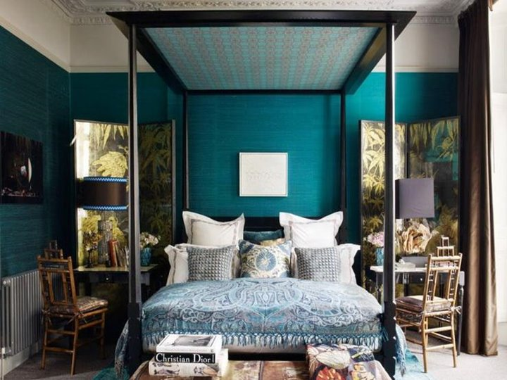 Luxury Blue Bedroom Wall Paint Color