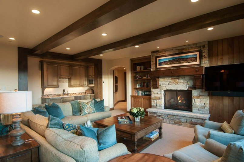 Luxury Brown Living Room Paint Color