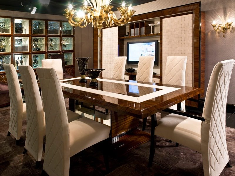 Luxury modern dining table design ideas 4 home ideas for Luxury dining room design