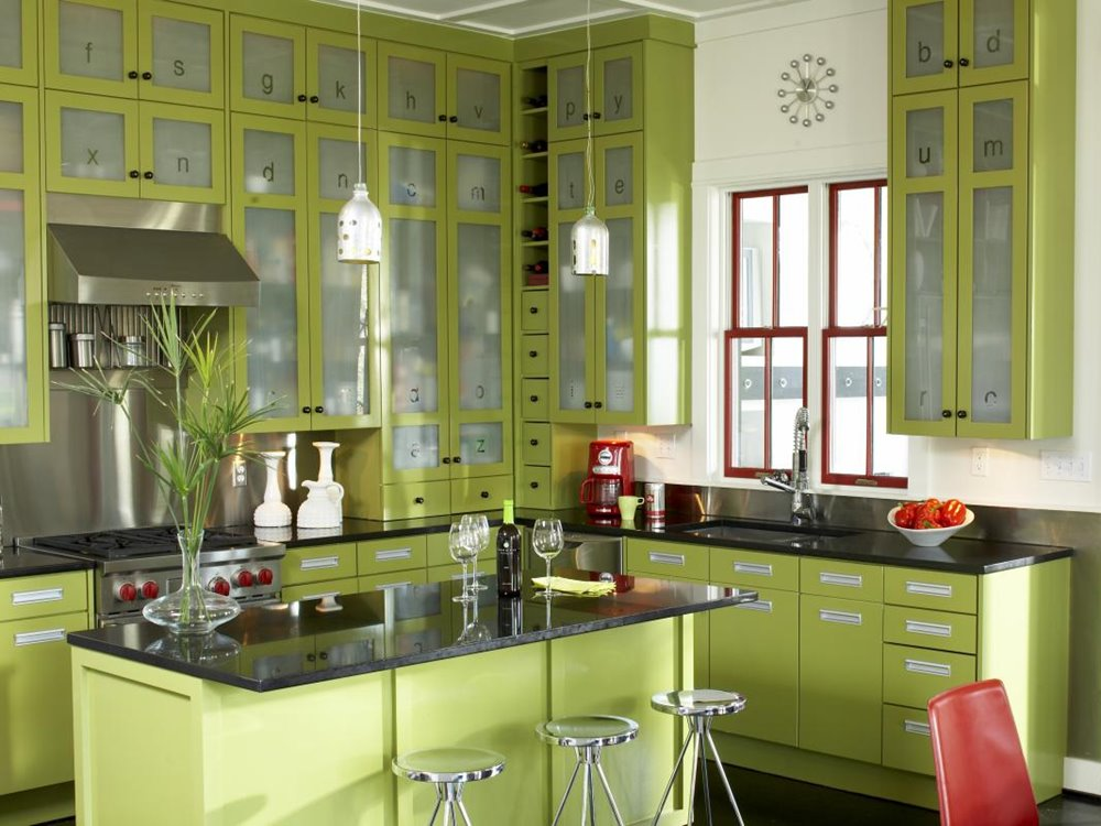 Luxury Green Kitchen Color Scheme