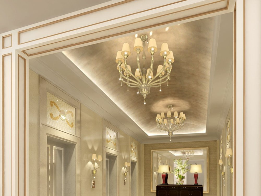 Various ceiling materials to create luxury modern home 4 for Home ceiling design images