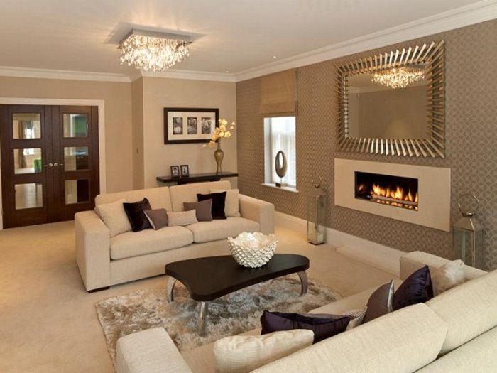 ... Luxury Living Room Design With Neutral Color ...
